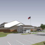 Artist Rendering of the front of new BVT Activities Building