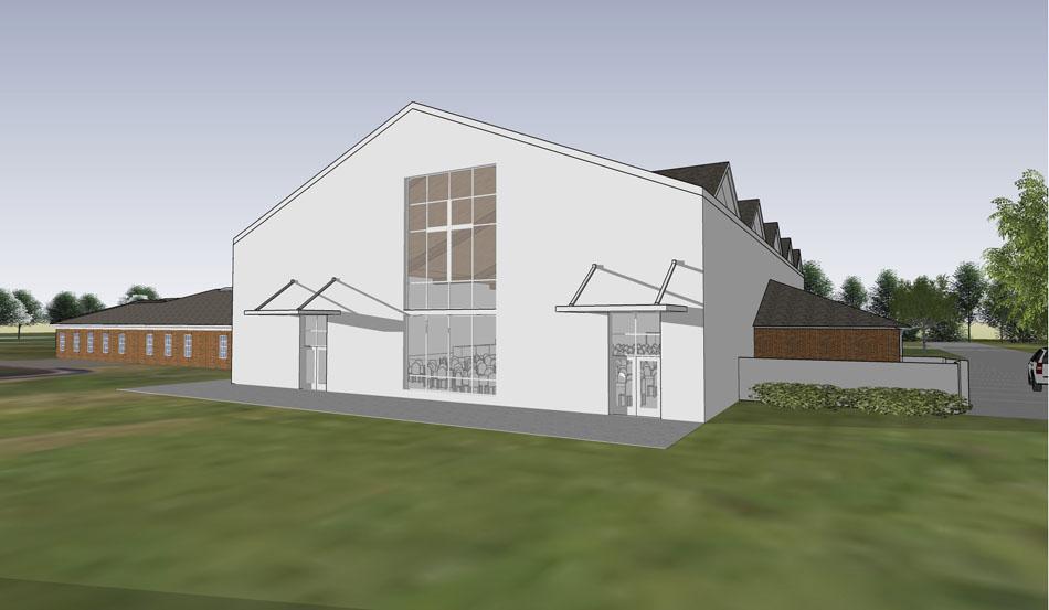 Artist Rendering of side view of New BVT Activities Building