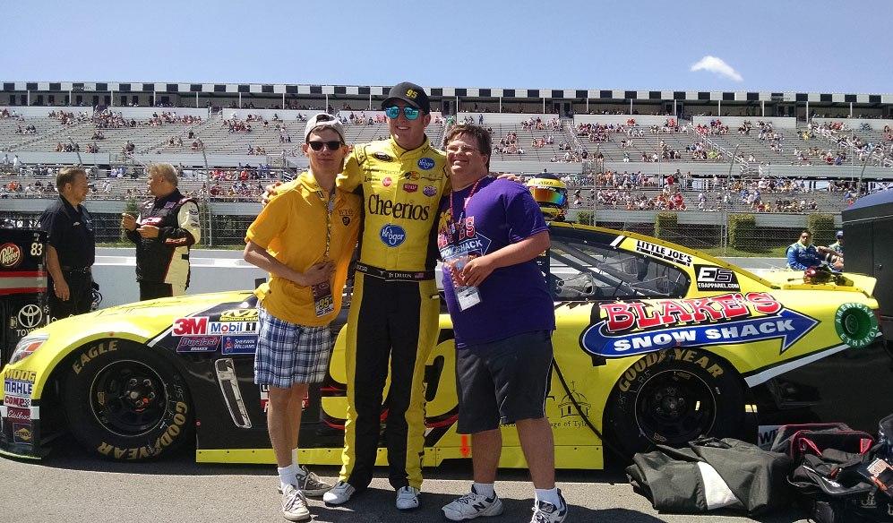 Photo: BVT residents at NASCAR