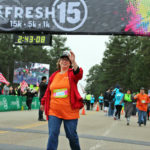 Photo: BVT Resident finishes a 15K run
