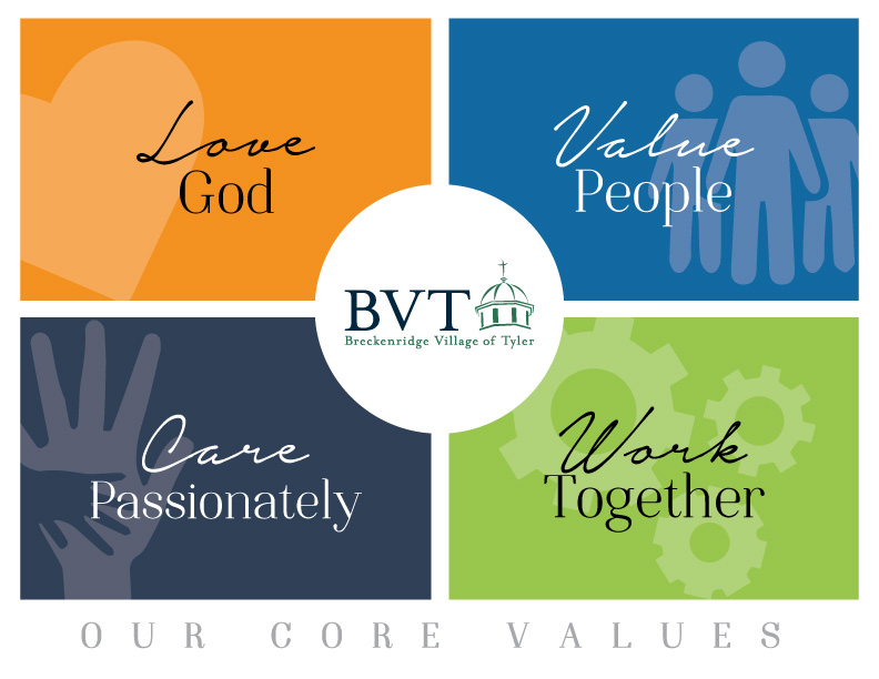 Our Core Values: Love God, Value People, Care Passionately, and Work Together