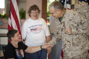 Photo: BVT Residents meet armed forces veterans
