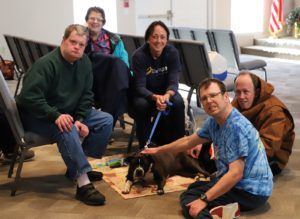 Photo: BVT Residents with a dog