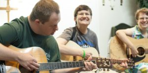 Photo: BVT Program Participants playing Guitar