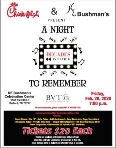 2020 A Night to Remember event advertisement